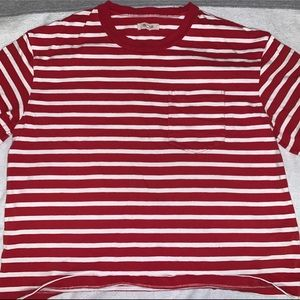 Madewell XL red striped t-shirt